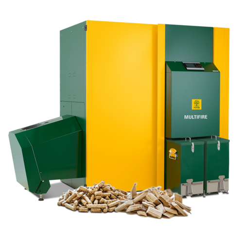 Wood chip heating system